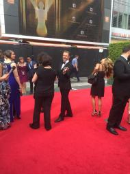 """No interview with Derek Hough this time since red carpet has closed. Here's a photo!!"" - Emmy Awards - September 12, 2015 Courtesy KristynBurtt twitter"